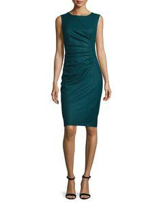 Rey+Ruched+Sleeveless+Dress,+Oil+by+Maxmara+at+Bergdorf+Goodman.