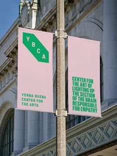 Logo, Branding & Signage for Yerba Buena Center for the Arts by Manual. Signage Display, Event Signage, Outdoor Signage, Wayfinding Signage, Signage Design, Shop Signage, City Branding, Event Branding, Logo Branding
