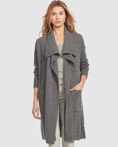 Abrigo de punto de mujer Polo Ralph Lauren con ochos