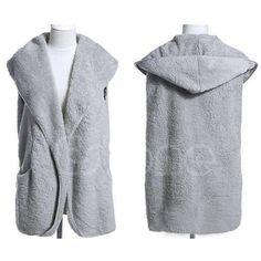 Buy from china:L109 1pc Faux Lamb Fur Hoodie Long Vest Sleeveless Jacket Waistcoat Women Outerwear Coat