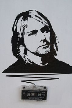 Kurt Cobain cassette tape art 16x20in ORIGINAL by mixtapemedia, $160.00