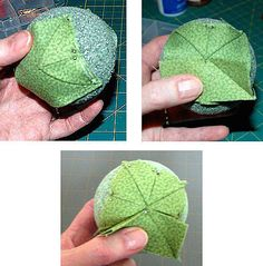 quilted christmas tree ornaments on styrofoam balls - Google Search