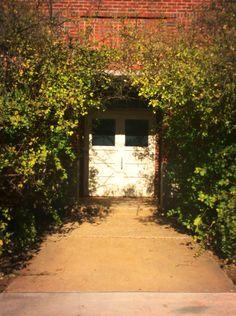 shaded doorway