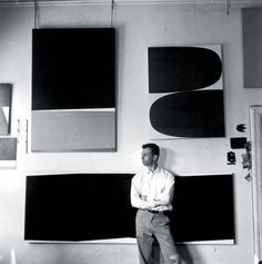 Ellsworth Kelly, photographed in his Broad Street studio, New York, 1956.