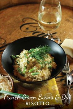 A fresh spring-inspired risotto made with lemon, dill and French green beans.