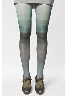 Wouldn't this green ombre kronkron stocking be pretty as crochet? Or... could you dip-dye white stockings for a similar effect?