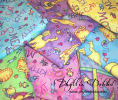 Meow Meow fabrics feature fun and whimsy cats with all the attitutdes that cats have.  There's a cat attitude for everyone and every cat.  Designed by Phyllis Dobbs for Quilting Treasures.