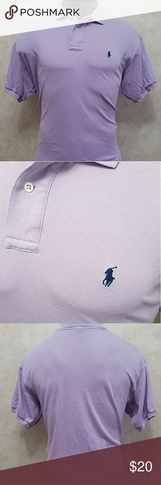 Ralph Lauren Purple Polo Mens Large Brand: Ralph Lauren Polo  Size: Large  Color: Purple  Material: 100% Cotton   Measurements Approx in inches:   Chest: 22 1/2  Length: 28 1/2  Sleeve: 7 3/4 Ralph Lauren Shirts Polos