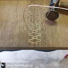 Whoa! This was by far the coolest thing I saw all weekend and surely #motivationmonday content. @kevin_manville_design is stitching together two pieces of wood...with copper. I mean, how crazy cool is that!?!? #stitchit #fixthisbuildthat