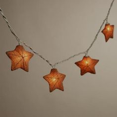 Add a warm glow to indoor and outdoor festivities with our Burlap Star 10-Bulb String Lights. These fun star-shaped lights are covered in natural burlap for a unique twist on string lights. Perfectly priced, each string features end-to-end plugs that allow you to connect up to three sets together.