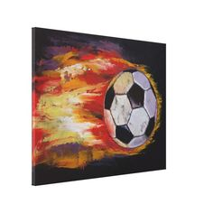 Great Big Canvas 'Soccer Ball' by Michael Creese Painting Print Format: White Frame, Size: H x W x D Sports Painting, Painting Prints, Wall Art Prints, Poster Prints, Canvas Prints, Framed Prints, Football Paintings, Soccer Art, Soccer Crafts