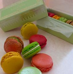 Nothing says spring in #Paris quite like the colorful and oh so delicious macarons from #Laduree!