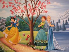 Dream-Art.gr: Ζωγραφική παιδικού δωματίου Elsa Frozen