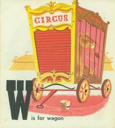Circus Alphabet, Illustrations by Patric Hudson, 1954