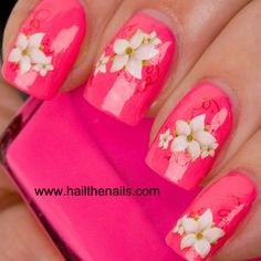 water lily nail design - Google Search