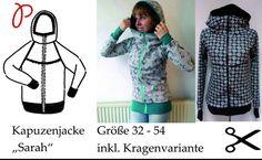 """Nähanleitungen Mode - Ebook Kapuzenjacke """"Sarah"""" - ein Designerstück von Paule-und-Paulinja-Stoffe bei DaWanda"""