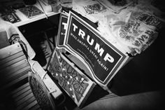 Campaign signs for Donald Trump shown at the Dixie General Store on February 20 near Heflin, Alabama. Store owner Robert Castello said that a local campaign organizer dropped off the signs at the store, which specializes in Confederate and southern heritage products. M. Scott Mahaskey/POLITICO