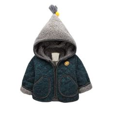 FREE SHIPPING on orders over $35.00!!!Smiling Face Lovely Hooded Quilt Coat for Infant Boys – cute.patpaty