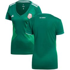41f04b9b3 Mexico National Team adidas Women s 2018 Home Replica Blank Jersey – Green