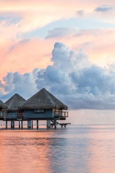 Tahitian cotton candy skies.