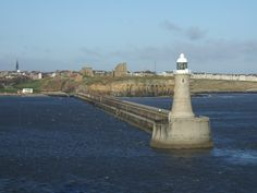 North Pier viewed from the sea, with Tynemouth Castle and Priory behind.   © Copyright Alan Wells and licensed for reuse under this Creative Commons Licence