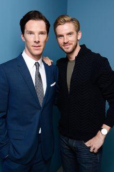 Benedict Cumberbatch and Dan Stevens at the Toronto Film Festival 2013
