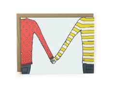 Love Card / Anniversary Card  Holding Hands by hellosmallworld, $4.00