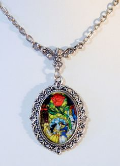 Beauty & Prince Adam Beast Inspired Stained Glass by KittyVonCatt, $18.00