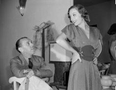 Joan Crawford in George Hurrell's Beverly Hills studio c1939