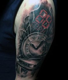 Mens Electric Arm Back To The Future Themed Tattoos