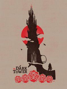"Childe Roland to the Dark Tower, 18x24"" screen print. www.harlanelam.com"