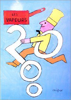 Vapeurs 2000 - Reimond Savignac - by サヴィニャック|ポスター|Happy Graphic Gallery ハッピーグラフィックギャラリー