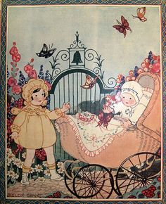 Needlecraft May 1926    magazine cover. Illustrated by Helen Grant.