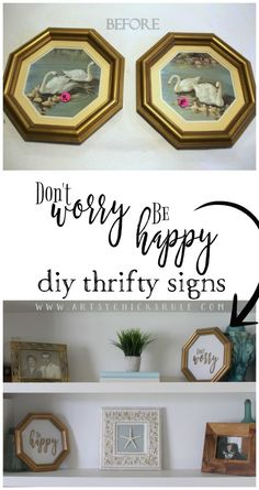 Thrift Store DIY Makeovers - Don't Worry Be Happy Signs - Decor and Furniture With Upcycling Projects and Tutorials - Room Decor Ideas on A Budget - Crafts and Decor to Make and Sell - Before and After Photos - Farmhouse, Outdoor, Bedroom, Kitchen, Living Diy Simple, Easy Diy, Clever Diy, Furniture Makeover, Home Furniture, Furniture Online, Rustic Furniture, Vintage Furniture, Dresser Makeovers