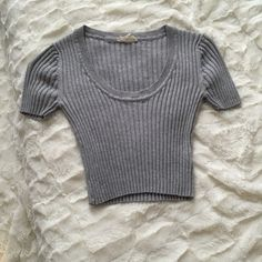 Grey crop Worn once. Bought from another posher. Not from listed brand. Brandy Melville Tops Crop Tops