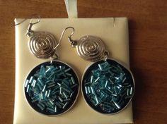 Orecchini con cristalli azzurri