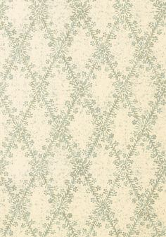 La Gioconda #wallpaper in #ivory and #aqua from the Artisan collection. #Thibaut