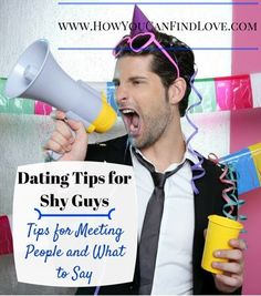 online dating shy guys