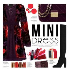 """Holiday Chic: Mini Dresses"" by federica-m ❤ liked on Polyvore featuring Anna Sui, Michael Kors, Marni and Kevyn Aucoin"