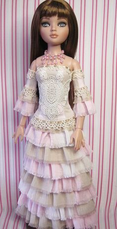 Very different reconstructed, shabby chic gown for Ellowyne…