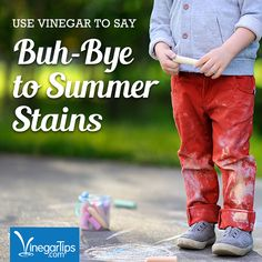 Summer stain removal. How to remove tough stains on kids clothes.