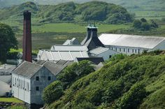 Lagavulin distillery from the east, Isle of Islay