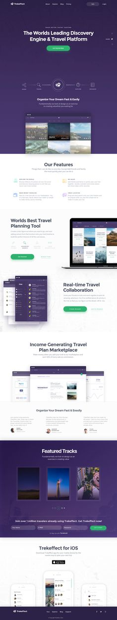 Landing page for Travel App – SiteUp
