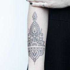 Mehndi wrist tattoo by Rachael Ainsworth