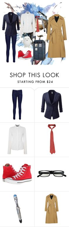 """10th Doctor!!!"" by halojinxx14 ❤ liked on Polyvore featuring Boohoo, J.TOMSON, Oui, Converse, Evolutioneyes and Bouchra Jarrar"