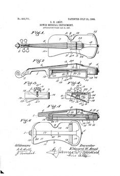 Bowed musical instrument patent (1908)