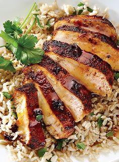Orange Chicken with Cilantro Rice