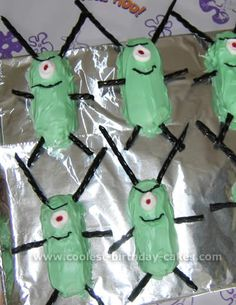 plankton twinkies so cute for a spongebob party.