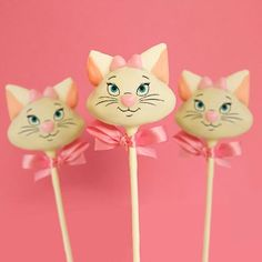 Treat yourself to the finest in all of Paris with these purr-fect Marie Cake Pops, and remember, ladies first.