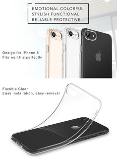 13 best phone cases imagesiphone 8 case, iphone 7 case, esr ultra slim clear soft tpu protective cover